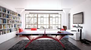 home ping pong table killerspin revolution ping pong tables in the home office club table