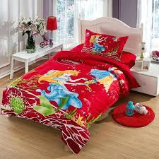 duvet cover size ikea the little mermaid bedding set twin size kids girls toddler cartoon red