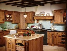 rustic small primitive kitchen ideas with hickory walnut refacing