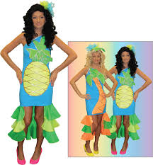 my big fat gypsy wedding pineapple and palm tree fancy dress hire