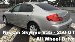 nissan skyline wheel size nissan skyline v35 250gt four 5 speed automatic awd youtube