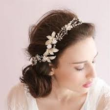 rhinestone headbands white leaf headband wedding hair accessories jewelry handmade