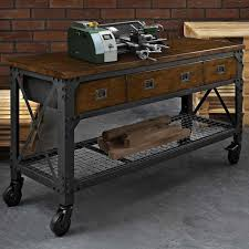 Woodworking Bench Plans Uk by Whalen Industrial Metal And Wood Workbench Costco Uk For The