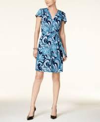 inc international concepts printed wrap dress dresses women