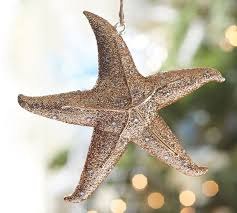 glass starfish ornament pottery barn