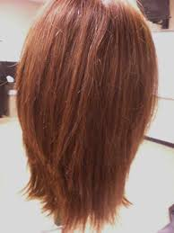 front and back views of hair styles red long layered for bob haircut ideas with back view design