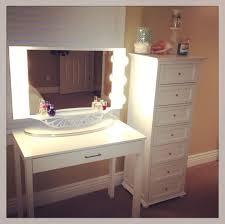 Glass Makeup Vanity Table Furniture Inspiring Makeup Vanity Table With Glass Top And Wall