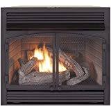 Btu Gas Fireplace - amazon com vent free thermostat 28000 btu fireplace insert
