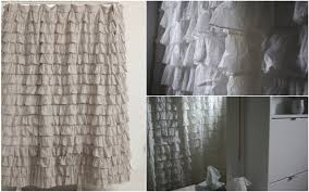 Gray Ruffle Shower Curtain Bathroom Awesome Ruffle Shower Curtain For Decoration Bathroom