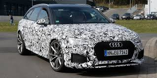 watch a 2018 audi rs4 wagon testing at the nurburgring
