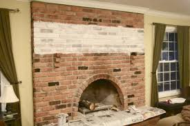 Cleaning Bricks On Fireplace by The Yellow Cape Cod White Washed Brick Fireplace Tutorial