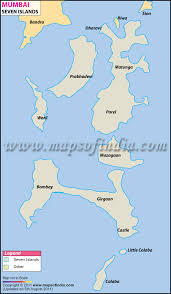 islands map mumbai seven islands map seven islands of mumbai
