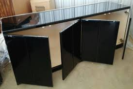 Black Gloss Buffet Sideboard 65 Modern Wood Glass Black Lacquer Sideboard Dining Room Buffet
