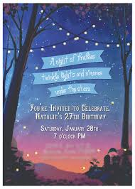 invitation a night of fireflies twinkle lights and s u0027mores