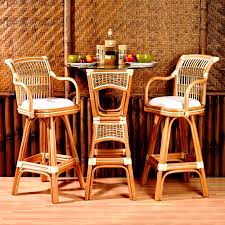 Bistro Set Bar Height Outdoor by Spice Islands 3 Piece Wicker Bar Height Bistro Set Hayneedle