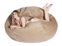 amazon com comfortsacs bean bag chairs premium foam filled