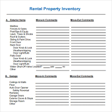 14 property inventory templates u2013 free sample example