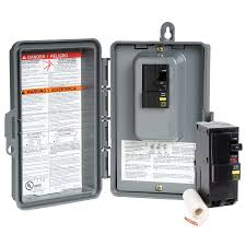 shop square d 50 amp non fusible non metallic spa at lowes com