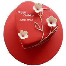 name on birthday cake for love