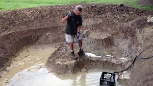 fishing pond expansion digging is done youtube