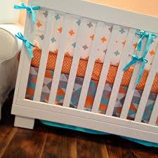 Neutral Nursery Bedding Sets Dk Leigh Modern Geometric 5 Gender Neutral Crib Bedding Set