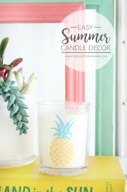 easy summer candle decor the crafted sparrow