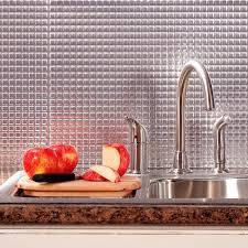 aluminum kitchen backsplash brushed aluminum tile backsplashes tile the home depot