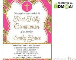 communion invitations for girl communion invites etsy