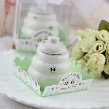 honey favors free shipping 100 pcs ceramic meant to bee honey jar honey pot