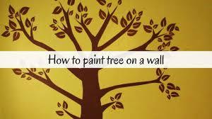 how to paint a tree on a wall nursery room bedroom