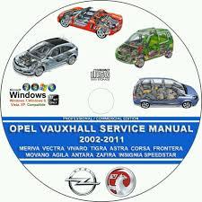 opel vauxhall movano agila antara zafira 2002 2011 servicio de