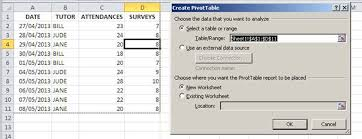 how to set up a pivot table how to create a pivot table with expanding data ranges