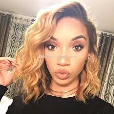 pictures of black ombre body wave curls bob hairstyles ombre color short wavy bob wigs t1b 27 glueless lace front wig