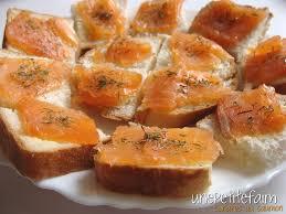canapé saumon canapés au saumon une faim
