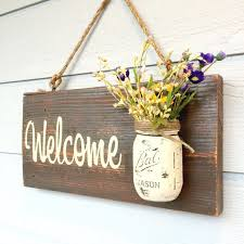 gifts for home decor rustic country home decor front porch welcome sign spring decor for