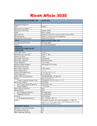 download free pdf for ricoh aficio 3030 multifunction printer manual