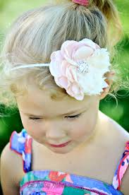 baby girl hair accessories blush pink flower headband montana s marketplace