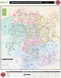 Transport Map Santiago Transport Map U2022 Mapsof Net