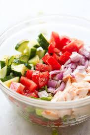 salmon chopped salad recipe primavera kitchen