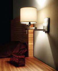 Bedroom Wall Lighting Ideas Bedroom Inspiring Bedroom Decoration Using Brown Wood Bed Frame