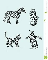 animal set ornament vector stock vector image 47268248