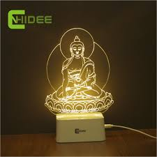 aliexpress com buy cnhidee 5 color dimmable night light buddha