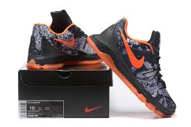 kd 8 opening black white team orange low price for sale