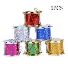 6pcs pack 4cm tree decorative drum pendant hanging