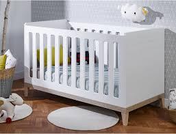 chambre bebe blanc lit bébé à bascule elandil blanc