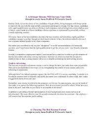 Best Way To Present Resume Career Development Reports 9 9 08 Pses