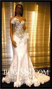 white swarovski crystal corset rose wedding gown dress