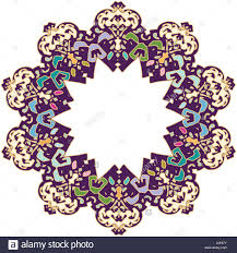 islamic styled ornament with western modern colors stock photo