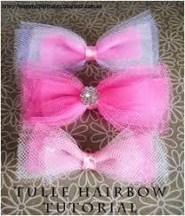 tulle hair bows diy hair accessories diy make pink hair ties with bow diy ideas