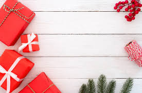 composition present gifts boxes and fir
